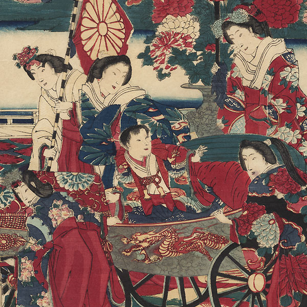 Flowering in the East: The Crown Prince at Play, 1877 by Chikanobu (1838 - 1912)
