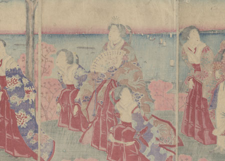 An Imperial Excursion to Maruyama in Shiba Park, 1880 by Kuniaki II (1835 - 1888)
