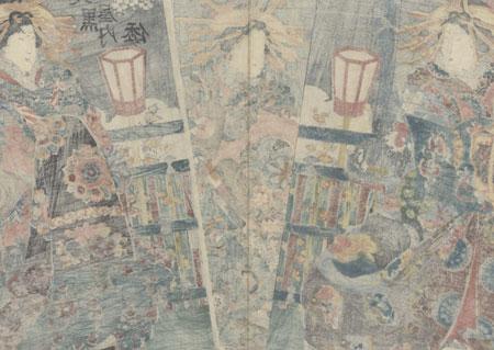Courtesans in the Yoshiwara by Edo era artist (unsigned)