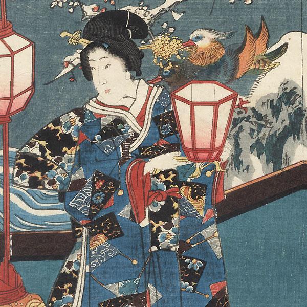 Genji and Beauties, 1847 - 1852 by Toyokuni III/Kunisada (1786 - 1864)