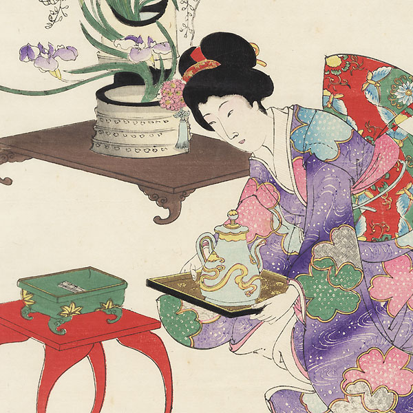 Flower Arranging, 1896 by Chikanobu (1838 - 1912)