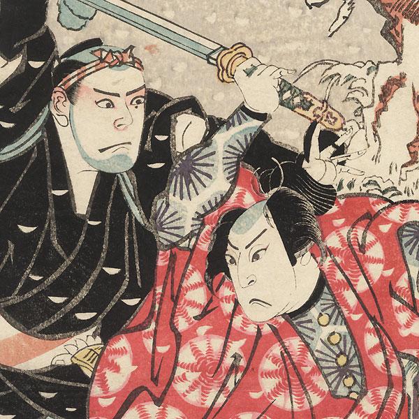 Arashi Kitsusaburo as Isoroku by Ashiyuki (active circa 1813 - 1831)