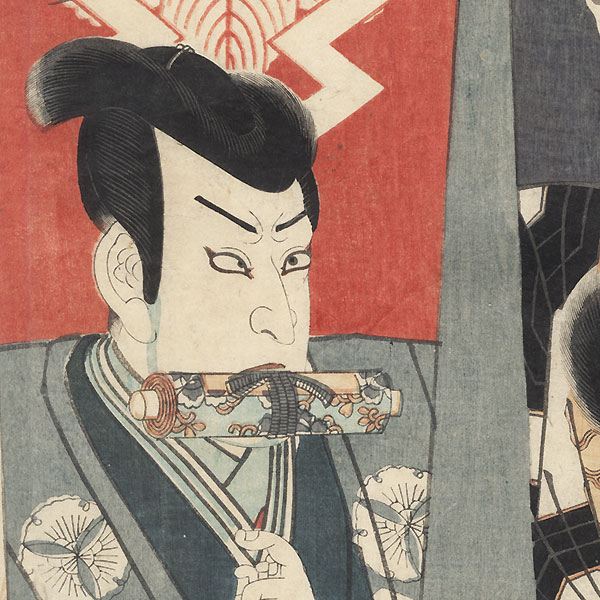 Nikki Danjo and Otokonosuke Teruhide, 1854 by Toyokuni III/Kunisada (1786 - 1864)