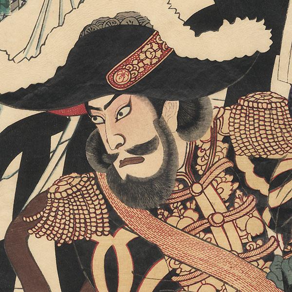 Saigo Takamori at an Encampment, 1878 by Kunichika (1835 - 1900)