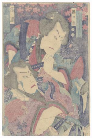 Two Sumo Wrestlers by Meiji era artist (unsigned)