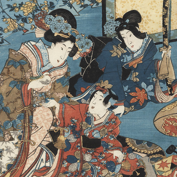 Young Princess with a Box of Toys, 1847 - 1852 by Toyokuni III/Kunisada (1786 - 1864)