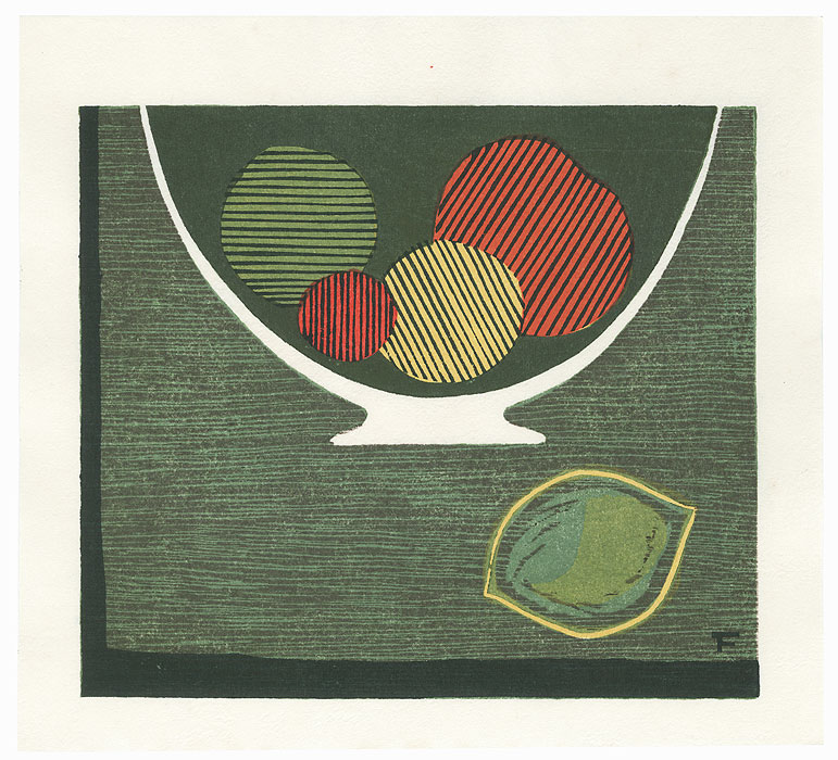 Bowl of Fruit by Fumio Fujita (born 1933)