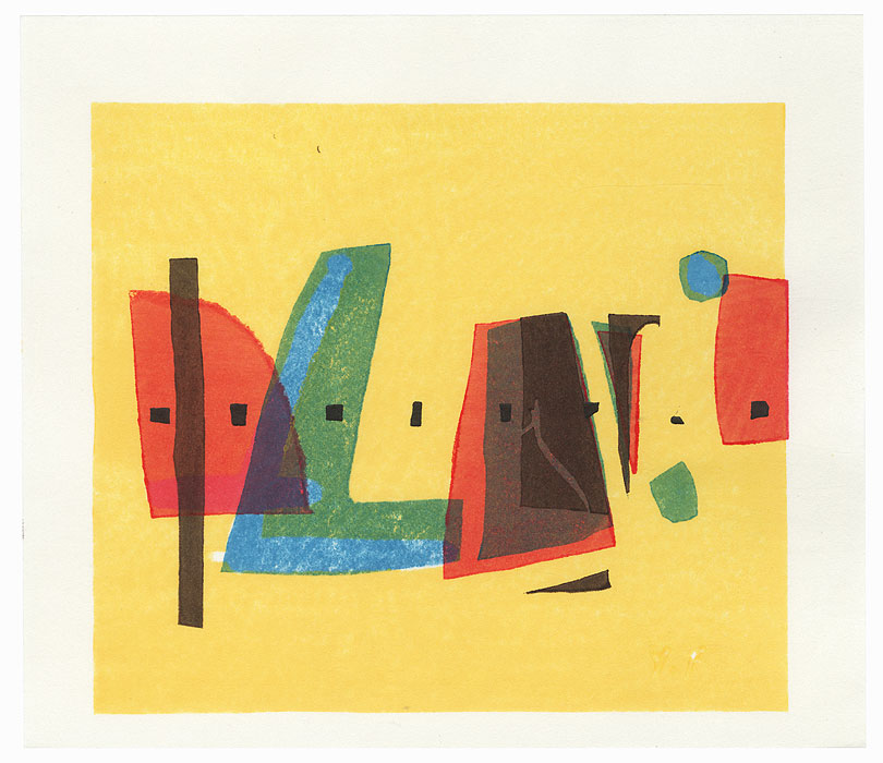 Abstract Design in Yellow by Yoshisuke Funasaka (born 1939)