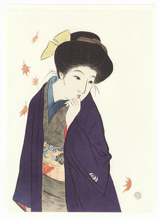 A Balmy Autumn Day Kuchi-e Print by Takeuchi Keishu (1861 - 1942)