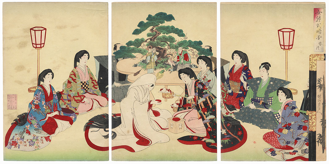 A Young Bride by Chikanobu (1838 - 1912)