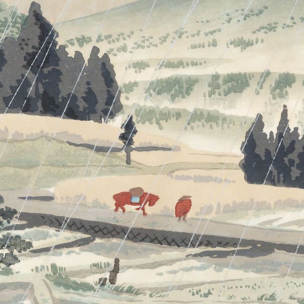 Rain at Kiraba by Tokuriki Tomikichiro (1902 - 1999)