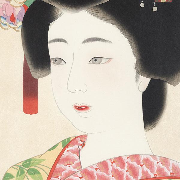 Maiko, circa 1933 by Kamoshita Choko (1890 - 1967)