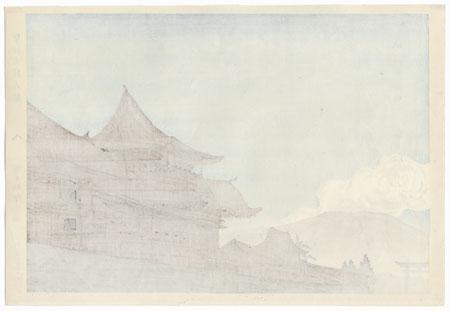 Aso Shrine in Higo by Tokuriki Tomikichiro (1902 - 1999)