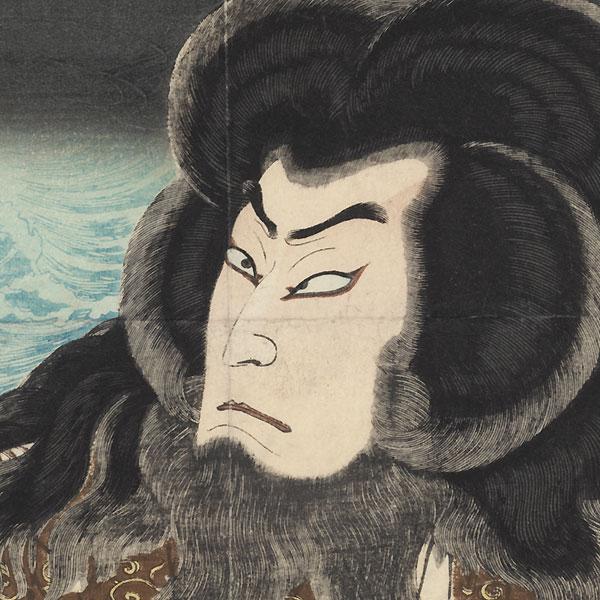 Bando Hikosaburo V, 1887 by Yoshitoshi (1839 - 1892)