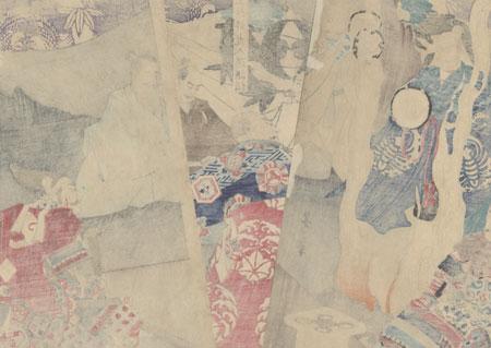 Saijo Uesugi Kenshin Dancing before Ghosts, 1868 by Yoshitoshi (1839 - 1892)