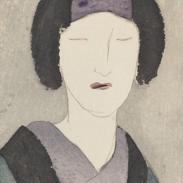 Beauty with Eyes Closed by Takehisa Yumeji (1884 - 1934)