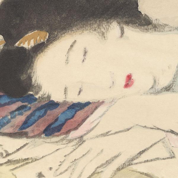 Beauty Napping by Takehisa Yumeji (1884 - 1934)