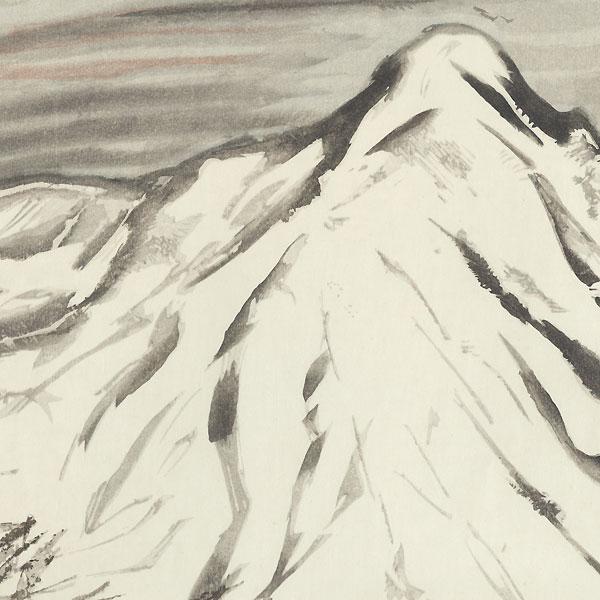 Snow at Haruna by Takehisa Yumeji (1884 - 1934)