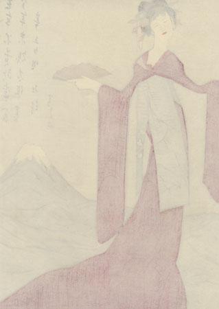 Tatsuta-hime by Takehisa Yumeji (1884 - 1934)