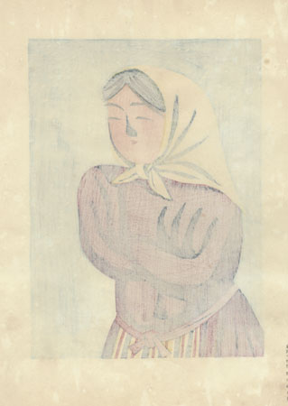 Girl from Tohoku by Maekawa Senpan (1888 - 1960)