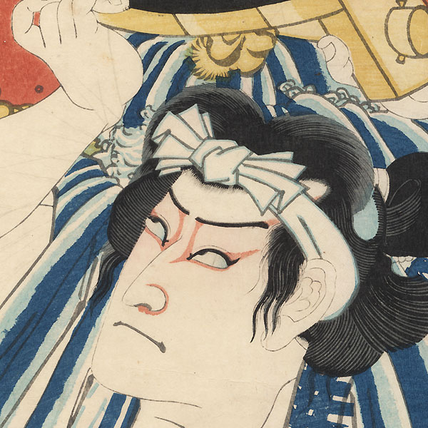 Actor as Asagiri Chozo, 1867 by Kunichika (1835 - 1900)