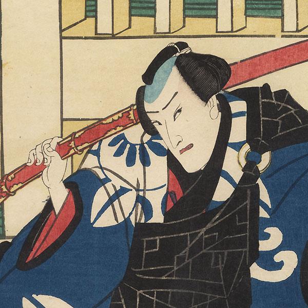 Ichimura Kakitsu as Nozarashi Gosuke, 1865 by Kunichika (1835 - 1900)