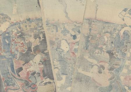 Gathering Shellfish at Low Tide, 1847 - 1852 by Sadahide (1807 - 1873)