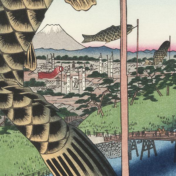 Suido Bridge and Surugadai by Hiroshige (1797 - 1858)