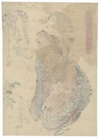 Beauty and Wisteria by Toyokuni III/Kunisada (1786 - 1864)