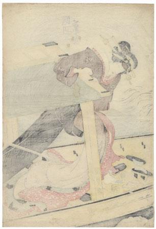 Segawa Kikunojo as a Beauty on a Boat, 1820 by Toyokuni III/Kunisada (1786 - 1864)