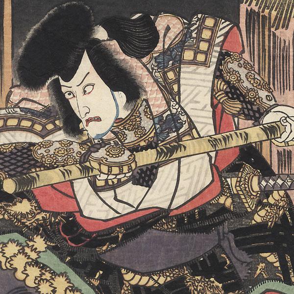 Ichikawa Danjuro as Unno no Kotaro, 1827 by Toyokuni III/Kunisada (1786 - 1864)