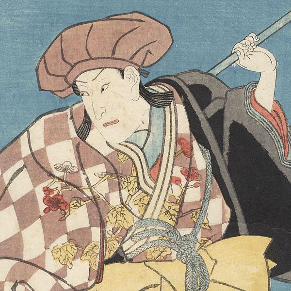 Sawamura Sojuro V as Horie no Wankyu, 1847 by Kuniyoshi (1797 - 1861)