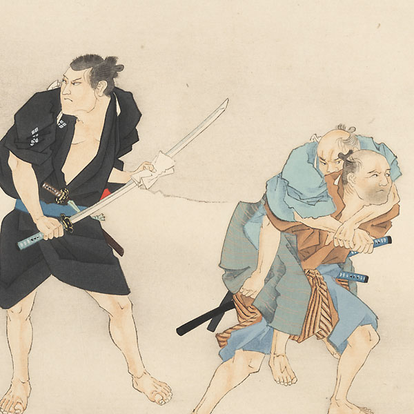 Horibe Yasubei and the Dule at Takadanobaba, 1921 by Shin-hanga & Modern artist (not read)