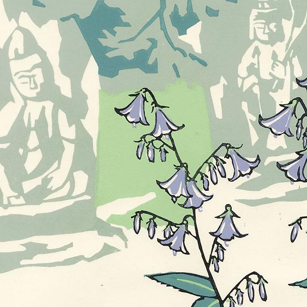 Flowers and Statues of Deities by Miyata Saburo (1924 - 2013)