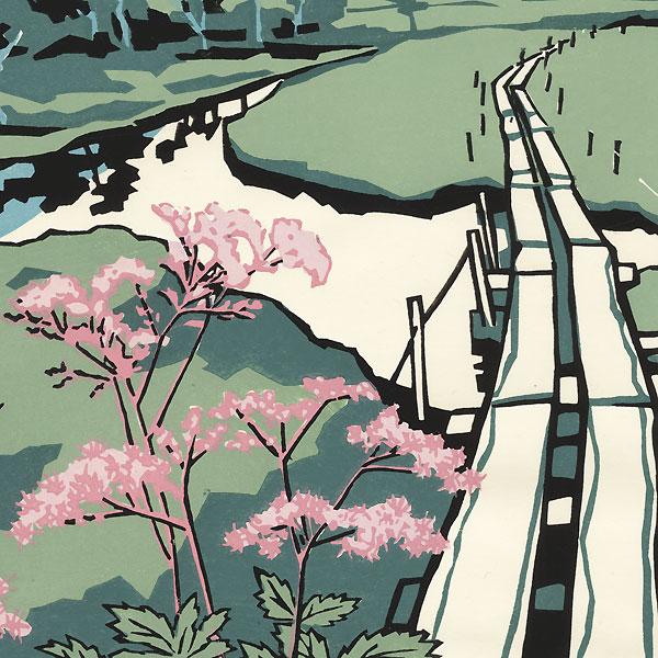 Viaduct and Stream by Miyata Saburo (1924 - 2013)