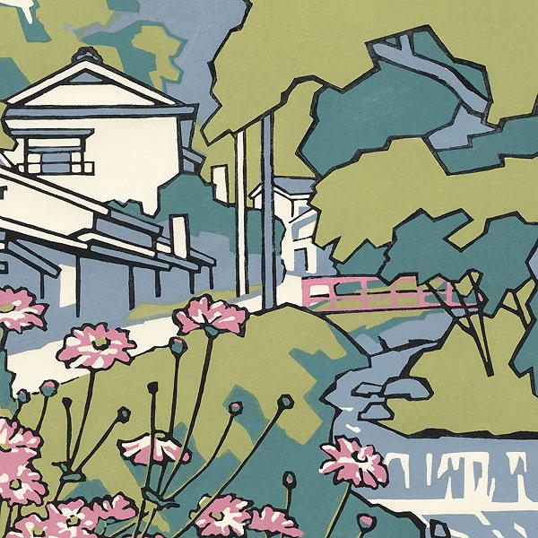 Town along a River by Miyata Saburo (1924 - 2013)