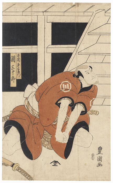 Seki Sanjuro as Teraoka Heiemon, 1815 by Toyokuni I (1769 - 1825)