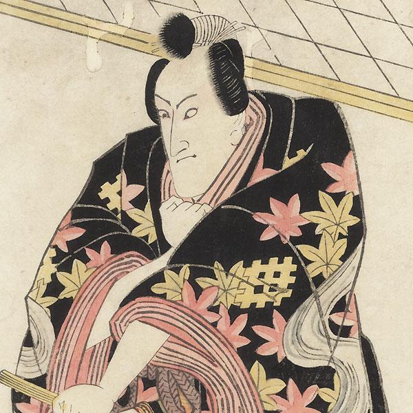 Seki Sanjuro as a Samurai in a Maple Leaf Kimono by Toyokuni I (1769 - 1825)
