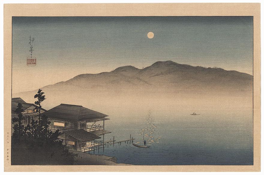 Full Moon over a Lake by Koho Shoda (1871 - 1946)