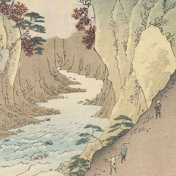 Dog Eye Pass in Kai Province by Hiroshige (1797 - 1858)