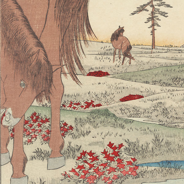 Kogane Plain in Shimosa Province by Hiroshige (1797 - 1858)
