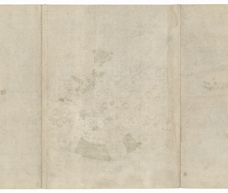 Samurai Holding a Demon Mask and Angry Boatmen by Hirosada (active circa 1847 - 1863)