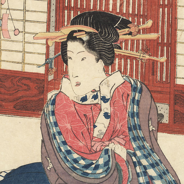 Beauty in Private Quarters by Toyokuni III/Kunisada (1786 - 1864)