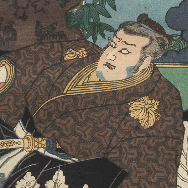 Scene from the 47 Ronin, Act 3: The Quarrel at the Palace, 1857 by Toyokuni III/Kunisada (1786 - 1864)