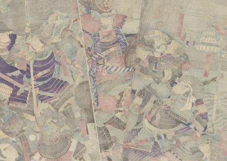 Masakiyo and His Sixteen Retainers, 1865 by Kuniteru II (1829 - 1874)