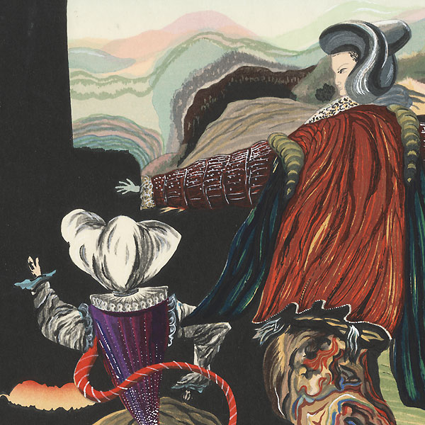 Surrealist Figures and Landscapes by Shin-hanga & Modern artist (unsigned)