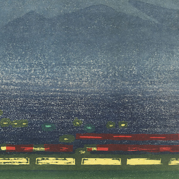 Fuji from a City at Night by Okiie Hashimoto (1899 - 1993)