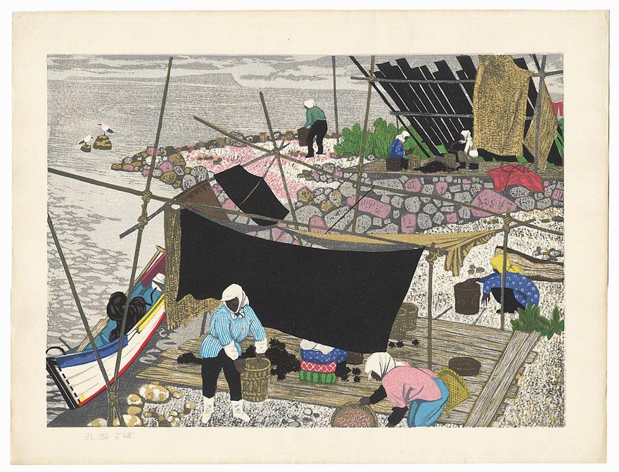 Teuri Island by Fumio Kitaoka (1918 - 2007)