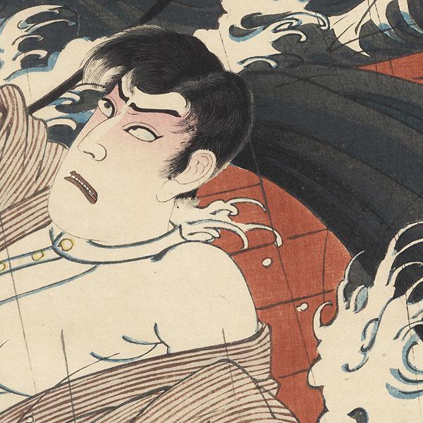 Sinking Ship, 1887 by Kunisada III (1848 - 1920)