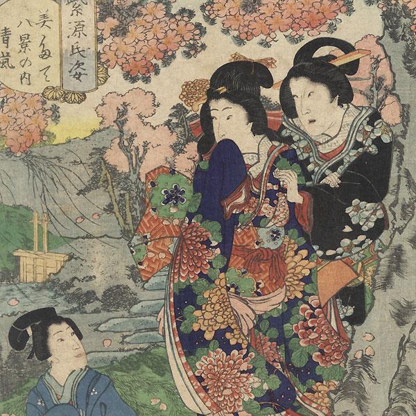 Scene from the Tale of Genji by Kunisada II (1823 - 1880)
